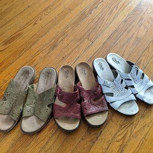 Three Pares Of Women's Sandals